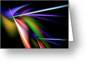 Piercing Greeting Cards - Laser Light Show Greeting Card by Carolyn Marshall