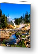 Volcanic Greeting Cards - Lassen Volcanic National Park Devils Kitchen Greeting Card by Scott McGuire