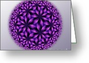Vector Image Greeting Cards - Last Dream Mandala Greeting Card by Danuta Bennett