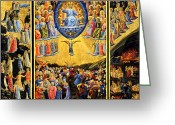 Angelico Greeting Cards - Last Judgment Winged Altar  Greeting Card by Fra Angelico