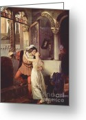 Juliet Greeting Cards - Last Kiss of Romeo and Juliet Greeting Card by Pg Reproductions