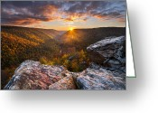 West Greeting Cards - Last Light at Lindy Point Greeting Card by Joseph Rossbach