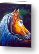 Horses Art Print Greeting Cards - Last Light Greeting Card by Hanne Lore Koehler