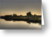 Water Greeting Cards - Last Light of the Day Greeting Card by Dave Gordon