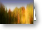 Soul Art Greeting Cards - Last November at Duke Greeting Card by Margaret Denny