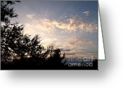 Western Sky Greeting Cards - Last Rays Greeting Card by Glenn McCarthy Art and Photography