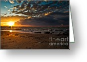 Sunset Photography Greeting Cards - Last Sun Greeting Card by Chuck Alaimo