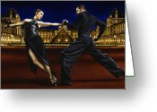 Dancers Greeting Cards - Last Tango in Paris Greeting Card by Richard Young