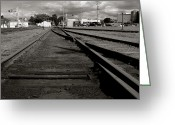 Abandoned Train Greeting Cards - Last Train Track Out Greeting Card by Lorraine Devon Wilke