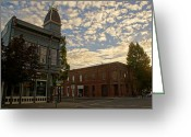 Alto Cumulus Greeting Cards - Late Afternoon at the Corner of 5th and G Greeting Card by Mick Anderson