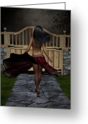 Kinky Greeting Cards - Late Evening Stroll Greeting Card by Alexander Butler