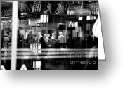 Ghostly Greeting Cards - Late Night Chinese Greeting Card by Dean Harte