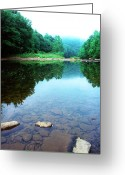Trout Stream Greeting Cards - Late Summer at the Baptizing Hole Greeting Card by Thomas R Fletcher