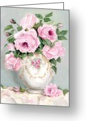 Chic Painting Greeting Cards - Late Summer Roses Greeting Card by Gail McCormack
