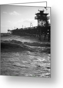 Clemente Greeting Cards - Late Winter Surf in San Clemente Greeting Card by Richard Daugherty