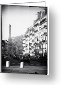 European Union Greeting Cards - Latin Quarter Streets Greeting Card by John Rizzuto