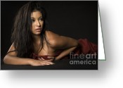 Linen Greeting Cards - Latina Greeting Card by Andre Babiak