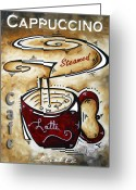 Coffe Greeting Cards - Latte by MADART Greeting Card by Megan Duncanson