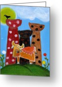 Island Cultural Art Greeting Cards - Lattestone Carabao Greeting Card by Jennifer R S Andrade