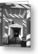 Portico Greeting Cards - Lattice and Shadows Greeting Card by Steven Ainsworth