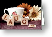 Teacup Greeting Cards - Laugh Greeting Card by Tom Mc Nemar