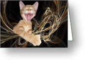 Zsuzsa Balla Greeting Cards - Laughing Rascal Greeting Card by Zsuzsa Balla