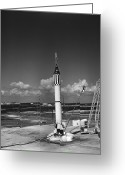 Redstone Greeting Cards - Launching Of The Mercury-redstone 3 Greeting Card by Stocktrek Images