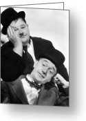 Bowtie Greeting Cards - Laurel And Hardy, 1939 Greeting Card by Granger