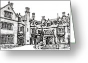 Hall Drawings Greeting Cards - Laurel Hall in Indianapolis Greeting Card by Lee-Ann Adendorff