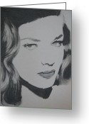 Icon  Pastels Greeting Cards - Lauren Greeting Card by Lynet McDonald