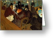 Rouge Greeting Cards - Lautrec: Moulin Rouge Greeting Card by Granger