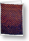 Wall Art Tapestries - Textiles Greeting Cards - Lava and Water Greeting Card by Mildred Thibodeaux