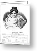 Physiognomy Greeting Cards - Lavaters Physiognomy, 19th Century Greeting Card by