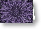 Digitalized Greeting Cards - Lavendar Twirl Greeting Card by Marsha Heiken