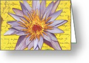 Blossom Painting Greeting Cards - Lavender Dream Greeting Card by Debbie DeWitt