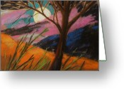 Colours Pastels Greeting Cards - Lavender Glowing Greeting Card by John  Williams