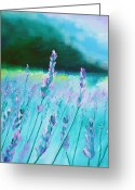 Schiabor Greeting Cards - Lavender Monet Greeting Card by Eric  Schiabor
