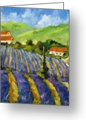 Artiste Greeting Cards - Lavender Scene Greeting Card by Richard T Pranke