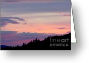 Purple Clouds Greeting Cards - Lavender Skies Greeting Card by Nick Gustafson