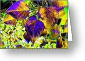 Rich Colored Greeting Cards - Lavish Leaves 3 Greeting Card by Will Borden