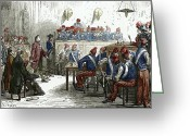 Revolutionaries Greeting Cards - Lavoisiers Trial, 1794 Greeting Card by Sheila Terry