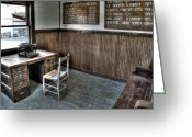 Lawmen Greeting Cards - Law Mans Office - Molson Ghost Town Greeting Card by Daniel Hagerman