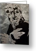 Wolfman Greeting Cards - Lawrence Talbot Wolf Man Greeting Card by Christopher  Chouinard