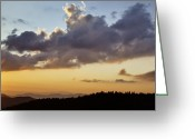Mountains Photographs Greeting Cards - Layered Elements of Evening Greeting Card by Rob Travis