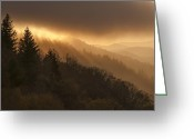 Smoky Mountains Greeting Cards - Layers of Light Greeting Card by Joseph Rossbach