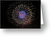 Fire Works Greeting Cards - Layers of Magic... Greeting Card by Nina Stavlund