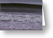 Spume Greeting Cards - Layers Patterned Greeting Card by Mary Hurst
