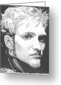 Chains Greeting Cards - Layne Staley Greeting Card by Jeff Ridlen