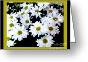 Lime Photo Greeting Cards - Lazy Daisy Flowers Greeting Card by Marsha Heiken