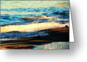 Tahoe Greeting Cards - Lazy Waves Greeting Card by Leah Moore